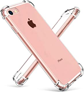 iPhone 7 Case Shockproof Clear TPU Phone Case For iPhone 7 8 4 Corner Anti-fall Soft Transparent Protection (iPhone 7/8, T...