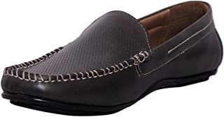 Zoom Shoes for Mens Loafer in Genuine Leather Formal Loafer Shoes T-11-Black Shoes Online