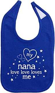 Mashed Clothing Unisex-Baby My Nana Love Love Loves Me Cotton Baby Bib
