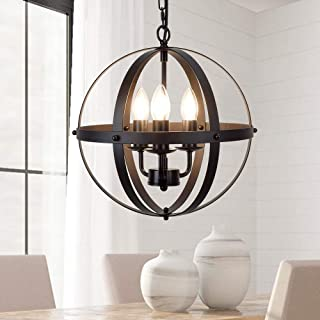 DLLT Vintage Pendant Hanging Light, Flush Mount Ceiling...