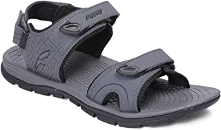 FURO by RedChief Men's Color D.Grey/Black Light Weight Best Sports Sandal/Floater SM115 C1164