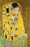 Poster 40 x 60 cm: Der Kuss von Gustav Klimt - hochwertiger