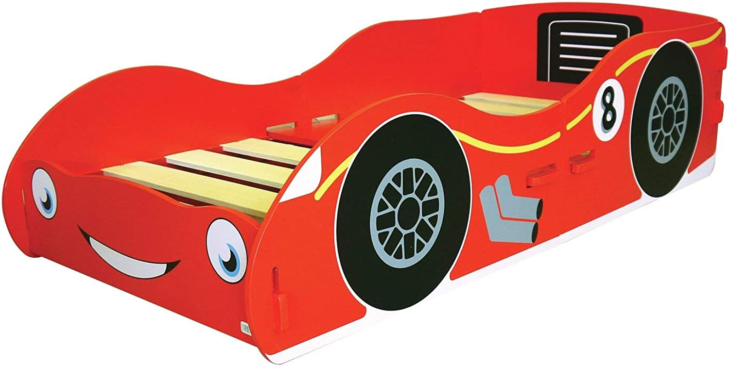 Kiddie Home Space Racing Car Themed Bed with Guardrails Included (Weight Capacity  50 Kilogram)