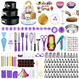 Cake Decorating Supplies Kit 407pcs, Baking Tools Set for Cakes – 3 Packs Springform Cake Pans Cake Rotating Turntable...