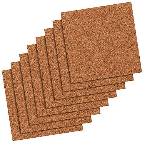 Quartet Cork Tiles, Cork Board, 12 Inches x 12 Inches, Corkboard, Wall Bulletin Boards, Natural, 8 Count (108)