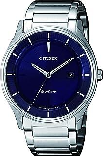 ساعة للرجال من سيتيزن مع مينا باللون الازرق وسوار من الستانلس ستيل- طراز BM7400-80L
