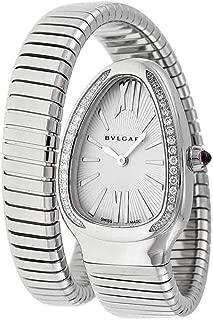 Serpenti Silver Dial Steel Bracelet Ladies Watch 101827