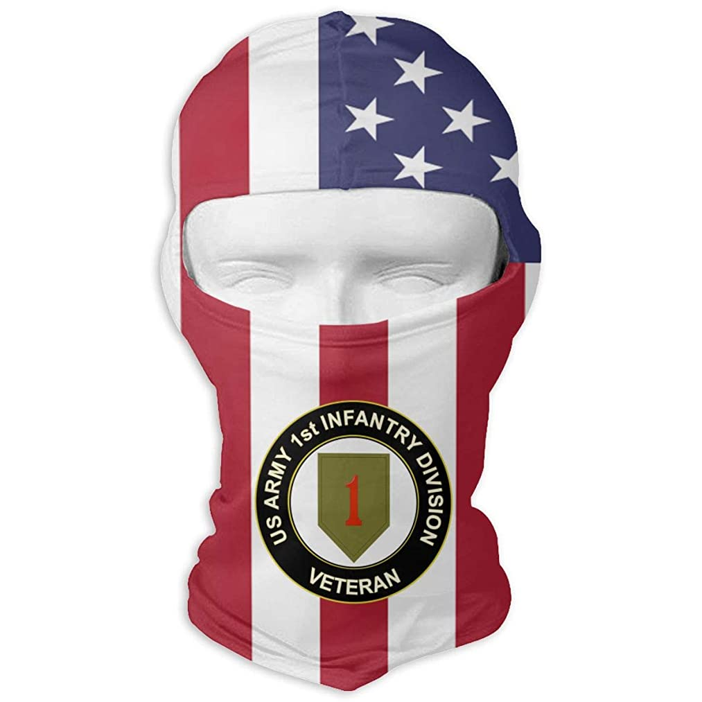 Sunsanfit778 US Army Veteran 1st Infantry Division Windproof Motorcycle Neck Warmer Balaclava Hood for Women Men Youth Snowboard Cycling Hat