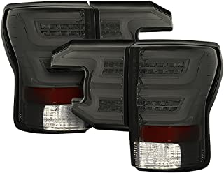 Torcia Auto Fits Toyota Tundra 07-13 Sequential LED Tail Lights Cruising Edition, Smoke Lens & Chrome Housing (TYPE S)