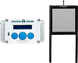 CHICKENGUARD Waterproof Automatic Chicken Coop Door Opener/Closer with Timer/Light Sensor Plus Predator Resistant Self Locking Pop Hole Door Kit. Coop Accessory with 3 Year Warranty (Extreme)