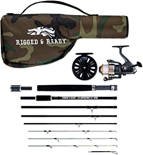 The X5 Adventure Travel Fishing Combination. 5 Fishing RODS in ONE. The Interchangeable Spin, Fly, Bait, Travel Fishing rods and reels. British Design. Rigged and Ready Travel Fishing