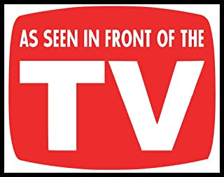 New Color Sticker As Seen In Front Of The TV On Lazy Funny Parody Joke Humor Fun