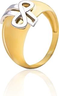 Tala Anello in Oro - 14K - Anello in Oro Bianco e Giallo con Fiocco. Peso gr 5.00