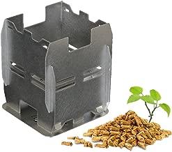 Estufa ecológica de pellets de madera o leña para camping y senderismo, plegado plano