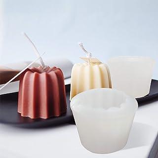 GIRYES Moule à bougie en silicone pour pudding - Moules à bougies - Kit fait main - Moules pour savon, pâtisserie, snack
