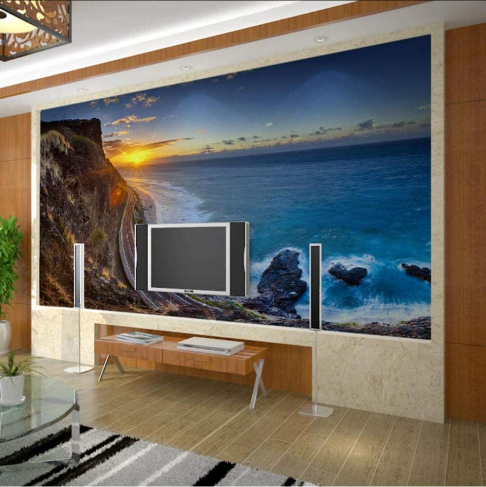 San Francisco Mall Sunset Seaside Cliff Nature Photo shipfree Wall Murals Decor W Paper Home