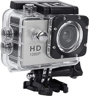 VBESTLIFE Sport Action Camera, waterdichte 1080p onderwatercamera met 140° groothoeklens, 900mAh accu, onderwater 30m (zil...