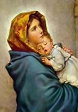 Virgin Mary and Child Jesus POSTER print A4 Madonna of the Streets picture Blessed Mother image Holy Mary painting Catholic Christian Religious Holy Wall Art Decor Gift for Home Room Kids Children