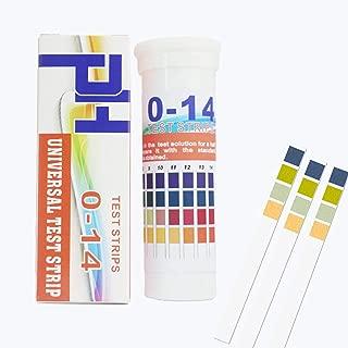 pH Test Strips 0-14 for Urine Saliva, Drinking Water Body pH Test, Fruits Food Test, Aquarium Pool Soil Test, Hair Products Cosmetics Soap Test, Kombucha Test, Universal pH Test 150 Strips
