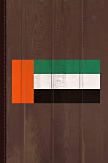 UAE Flag Journal Notebook: Blank Lined Ruled For Writing 6x9 110 Pages
