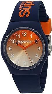 Superdry Unisex-Adult Quartz Unisex Urban Analog Quartz Watch with Dark Blue Silicone Strap Analog Display and Silicone Strap, SYG198UO