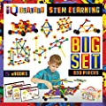 IQ BUILDER | STEM Learning Toys | Creative Construction Engineering | Fun Educational Building Blocks Toy Set for Boys and Girls Ages 5 6 7 8 9 10 Year Old + | Best Toy Gift for Kids | Activity Game by IQ Builder
