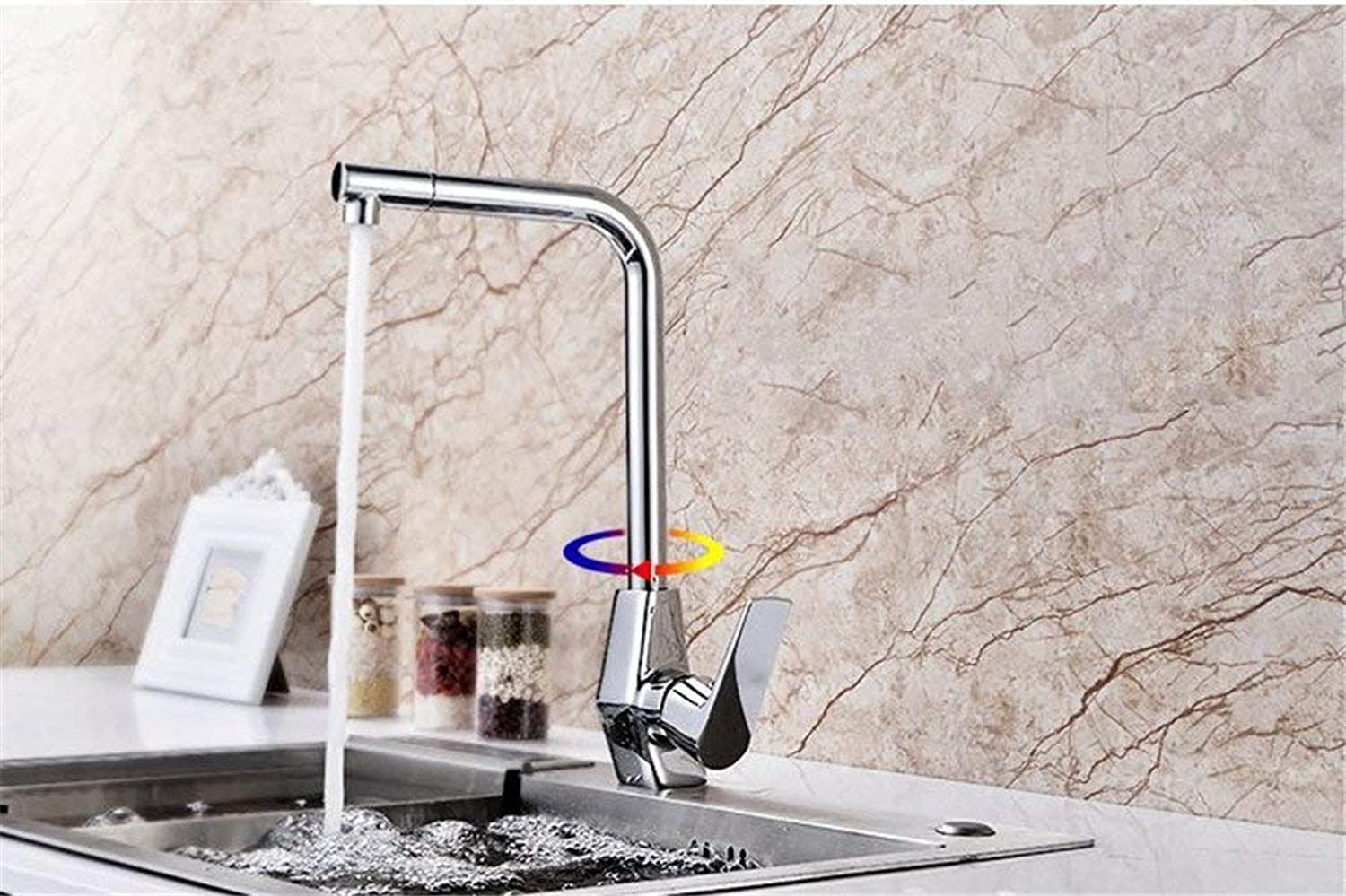 Oudan Creative Copper Kitchen Faucet Swing Swing Kitchen Cold Hot Water Faucet Shower Accessories (color   -, Size   -)