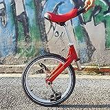 LJHHH Unicycle,Intelligent Balance Drift Car Thinking Somatosensory Scooter,Outdoor One Wheel Self Balance Unicycle Single Wheel Scooter,Red