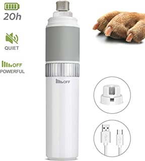 AADPLYA Dog Nail Grinder and Clippers with 20h Working Time Professional Pet Nail Trimmer Perfect Stepless Speed Regulation Pet Nail Grinder Eelectric Nail File for Large Medium Small Dogs and Cats