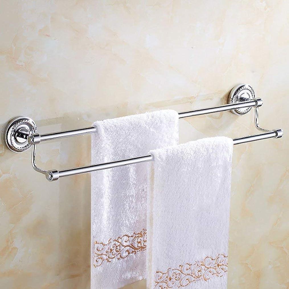 治す強度褒賞L.TSAの浴室タオル掛けの罰金の銅の平行棒タオル掛けの浴室タオル棒63cm