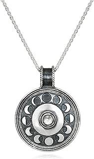 Satya Jewelry Moonstone Moon Phase (30-Inch) Pendant Necklace