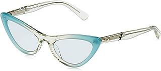 نظارات شمسية للنساء من ديزل DL030389V54 - تركواز/ازرق - بلاستيك