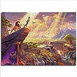 Zeo Qi Lin Zou Puzzle Classico Lion King 38x26cm Carta mini1000 Pezzi Gioco per Famiglie per Migliorare la logica del Pensiero Regalo di Natale
