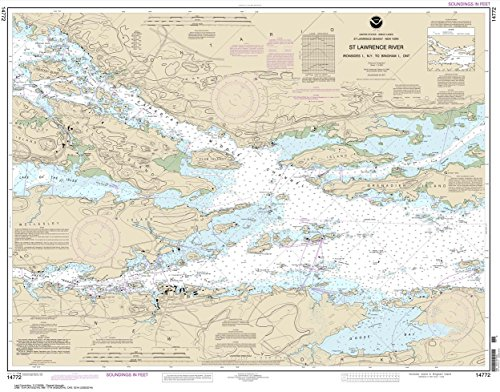 NOAA Chart 14772: Ironsides l.: N.Y.: to Bingham l.: ONT. 29 x 37 (Traditional Paper)
