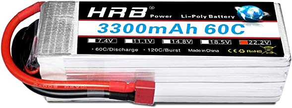HRB 6S 22.2V 3300mAh 60C Lipo Battery with Deans T Plug for RC Quadcopter 500-size Helicopter Car Truck Boat Hobby