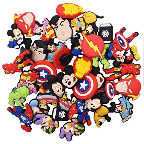 Mickey Different PVC Shoe Charms,Adornos Para Zapatos Multicolor Pulsera Charms Favores De Fiesta,los mejores regalos para adultos, adolescentes, niños y niñas