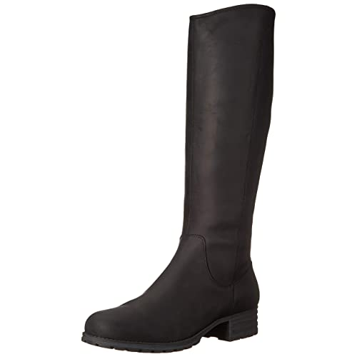 671f8dd14f4 Women s Black Leather High Heeled Boots  Amazon.com