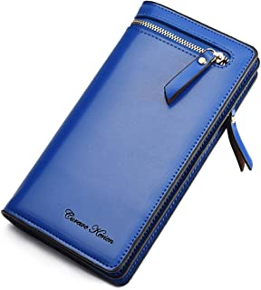 iLapland faux Leather Multi-purpose Clutch Wallet Case for Smartphones - Blue
