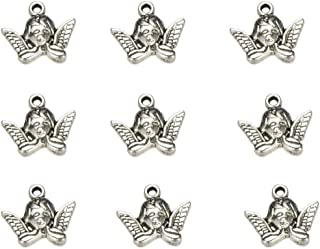 10PCS 23x21mm Silver Dancing Angel Charms-p1509