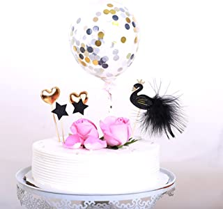 Happy birthday Cake Topper Wedding Toppers cupcake topper Party Decoration Ideas With the Best Quality (Black/gold)