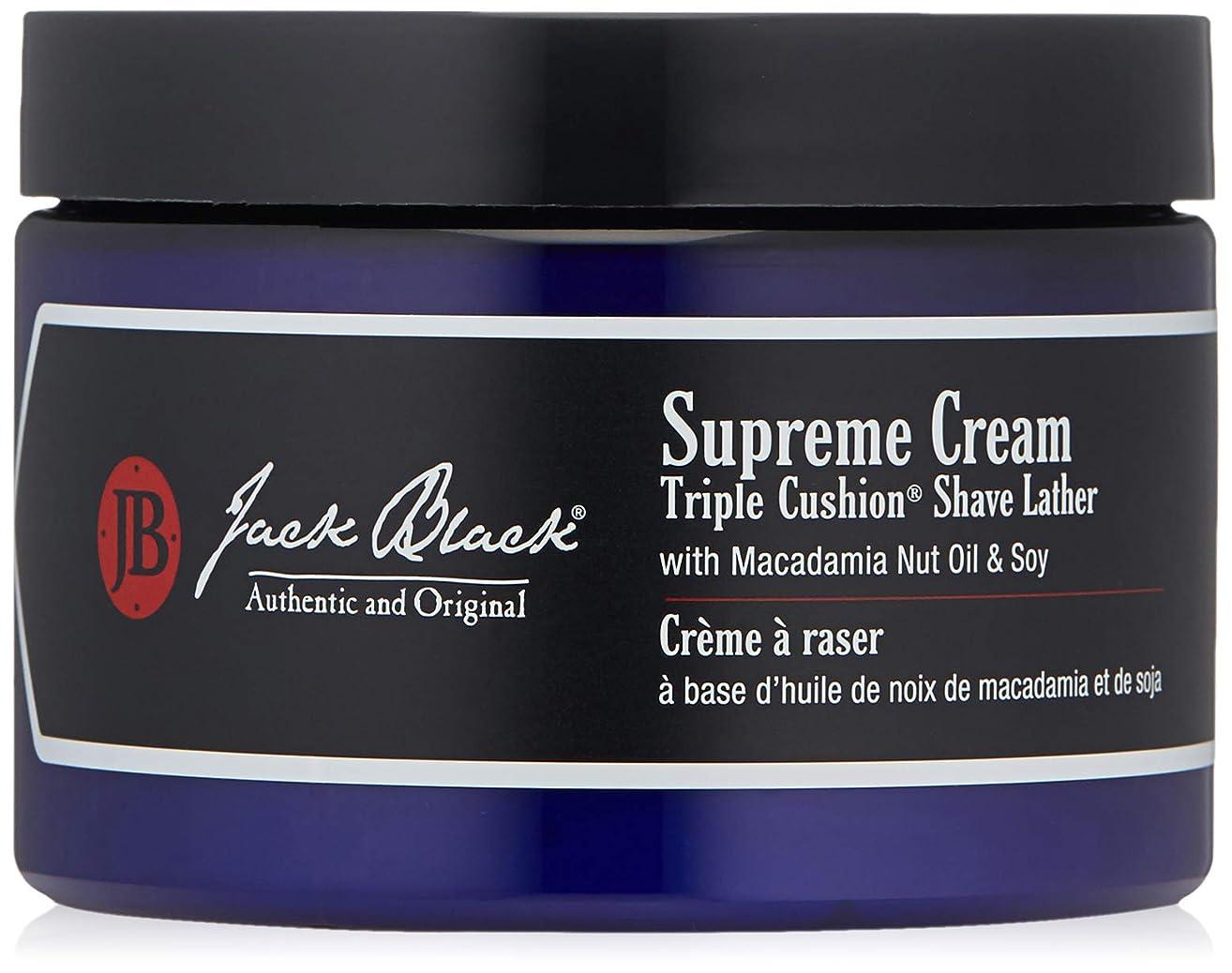 補償厚い半島ジャックブラック Supreme Cream Triple Cushion Shave Lather 270g/9.5oz並行輸入品