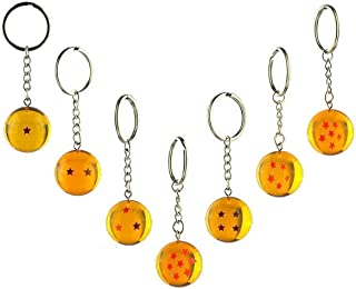 Funnom DBZ Collections 7pcs/set 2.5cm New In Bag 7 Stars Crystal Balls Keychain Pendant 1 2 3 4 5 6 7 star Complete set