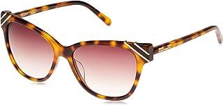 نظارات شمسية من DVF Women's CatEye البلاستيكية