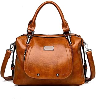 Shoulder Bag for Women Diagonal Bag Large Capacity Handbag Female Bag Handbags (Color : Brown)