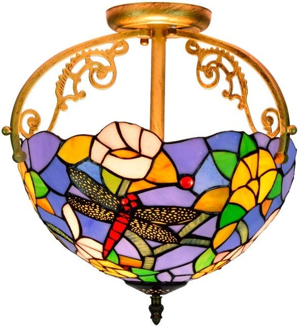 Tiffany Retro Ultra-Cheap Deals Style Ceiling Lamp Bedroo 30CM European Restaurant Super sale period limited