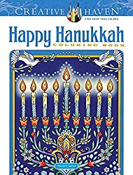 Creative Haven Happy Hanukkah Coloring Book pre-order for 2020