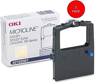 Okidata 52102001 Black Nylon Ribbon Microline 320/321 Printers -5/6-Inch x 2 Yards