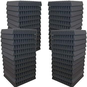 24 Pack 2 H x 12 W x 12 L AK TRADING AF-2x12x12-24 Soundproofing Foam Acoustic Tiles Studio Foam Sound Wedges