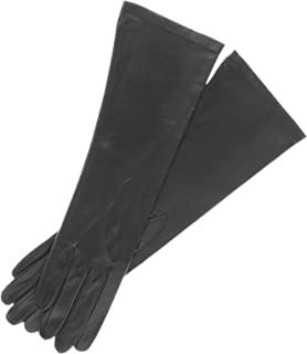 6 button length leather gloves