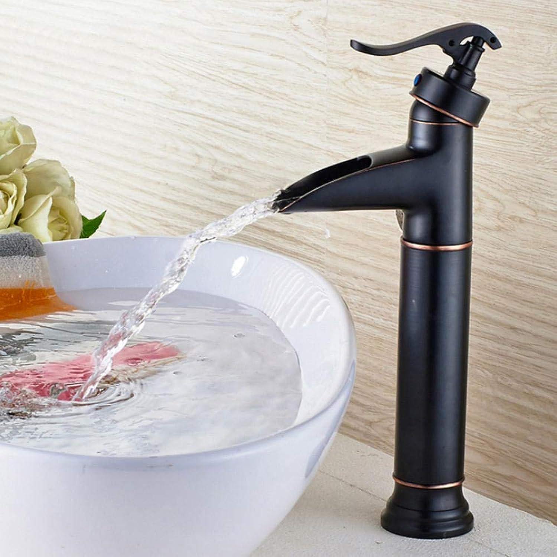 Hiwenr Wein Glas Stil Einhebel Wasserfall Waschbecken Wasserhahn Messing Antiken Heien Und Kalten Waschbecken Mischbatterien